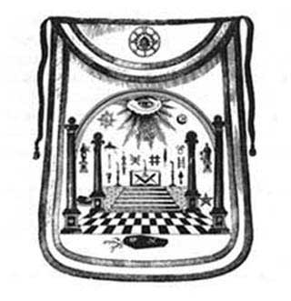 symbolism in the masonic apron hand embroidered by madame lafayette in 1784 Part 1 of a video taken of wor bro david lettelier as he describes the symbolism that was hand embroidered on the front of the apron by madame lafayette.