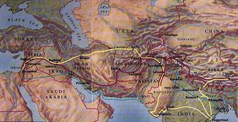 Image result for Maps of the far east at the time of Christ.